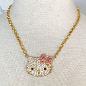 NWT. Hello Kitty & Swarovski Crystal Necklace